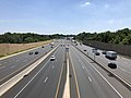 2019-07-15 14 46 26 View south along Interstate 95 (John F. Kennedy Memorial Highway) from the overpass for Hazelwood Avenue in Rosedale, Baltimore County, Maryland.jpg