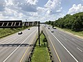 2019-07-25 14 06 21 View west along Interstate 595 and U.S. Route 50 (John Hanson Highway) from the overpass for Church Road on the edge of Fairwood and Woodmore in Prince George's County, Maryland.jpg