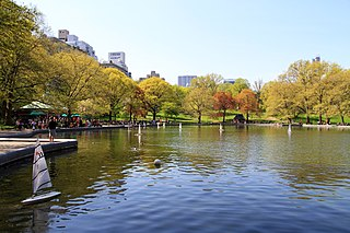 Conservatory Water watercourse in Central Park, New York City