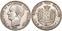 2 silver drachmae, 1883, George I, Greece.jpg