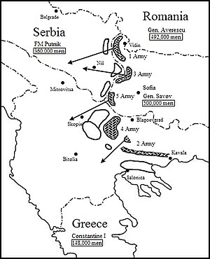 First Army (Bulgaria) - Initial Bulgarian plan of operations.