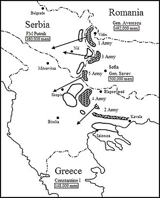First Army (Bulgaria) - Initial Bulgarian plan of operations