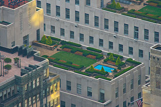 Roof garden - Roof garden of Rockefeller Center in Manhattan