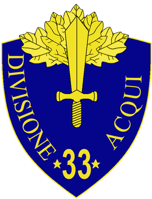 33rd Infantry Division Acqui - 33rd Infantry Division Acqui Insignia