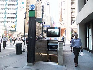 Lexington Avenue/51st Street (New York City Subway) - Entrance to the IRT Lexington Avenue Line platform