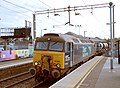 57 310 & 57 303 bring the Stowmarket-Clacton-Stowmarket RHTT working through Hythe station to a stop at Eastgates East Junction, before proceeding over the triangle towards Colchester North . Saturday 25th Oct 2014 - 15438622167.jpg
