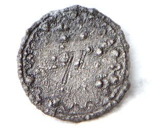71st Regiment of Foot, Fraser's Highlanders - A pewter button from the uniform of a non-officer member of Fraser's Highlanders, recovered by archaeologists from the 1782 Storm Wreck