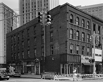 Monroe Avenue Commercial Buildings - 74-78 Monroe, Farmer elevation, 1989