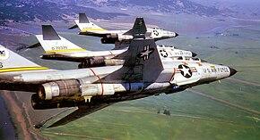84th Fighter-Interceptor Squadron 3 F-101Bs 1968.jpg
