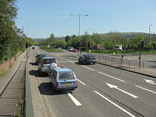 A419 Ebley bypass, looking towards Stroud