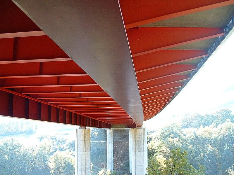 Autoroute A75 - Viaduc de l Planchette - Tablier mixte acier-béton à pièces de pont