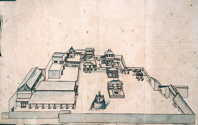 File:AMH-2625-NA Representation of the lodge at Amadabat.jpg