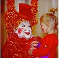 A Cirque du Soleil clown at the Mirage Hotel and Casino in Las Vegas.jpg