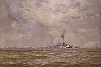 A Convoy of Dazzled Ships in the Channel Art.IWMART4030.jpg