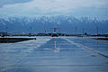 A U.S. Air Force C-17 Globemaster III aircraft prepares to taxi at Bagram Airfield in Parwan province, Afghanistan, March 7, 2014 140307-F-YY948-080.jpg