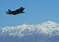 A U.S. Air Force F-35A Lightning II aircraft flies over Hill Air Force Base, Utah, March 14, 2014 140314-F-UT482-243.jpg