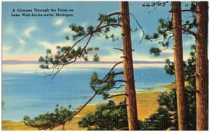 Interlochen, Michigan - Lake Wah-ba-ka-netta, now Green Lake