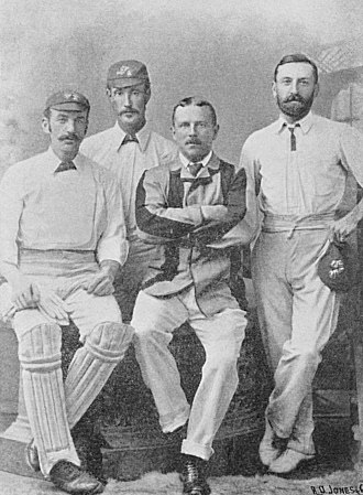 Alexander Watson (cricketer, born 1844) - Alexander Watson second left