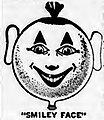 A smiley face balloon from a Gregory FUNNY-B'LOONS ad on page 20 of The Billboard March 18 1922.jpg