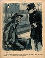 A tramp on a bench tells a policeman that all the hospitals Wellcome V0011838.jpg