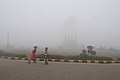A view of the India Gate covered with fog on a chilly morning, in New Delhi on December 26, 2010.jpg