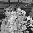 Aankomst Ella Fitzgerald op Schiphol, Ella Fitzgerald, Bestanddeelnr 917-6033.jpg