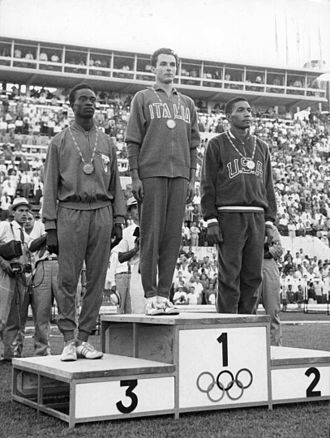 Athletics at the 1960 Summer Olympics – Men's 200 metres - Abdoulaye Seye, Livio Berruti and Lester Carney