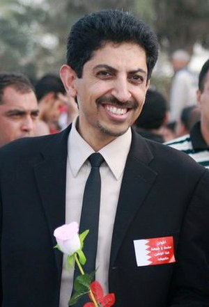 Abdulhadi al-Khawaja - Abdulhadi al-Khawaja taking part in a pro-democracy protest in February 2011