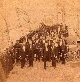 Federico Errázuriz Echaurren - President Roca and President Errázuriz at the straits (1899)