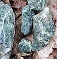 Actinolite rock (Tilloston-Haystack Slice; near Hazens Notch, Orleans County, Vermont, USA) 1.jpg