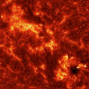 Active region in the chromosphere - Ca II 8542 Å.png