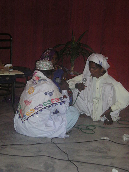 A trio of Pakistani folk singers performing at a local gathering Actresses in Pakistan.jpg