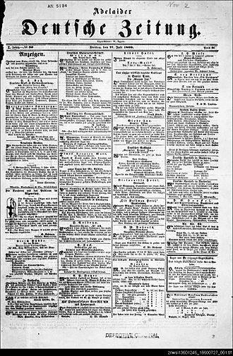 Adelaider Deutsche Zeitung - Adelaider Deutsche Zeitung, 27 July 1860, p. 1