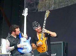 Adelitas Way - Johnston and Zakaryan at 2012 Rock Fest on July 21st