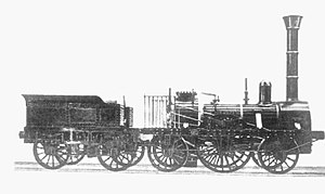 Adler (locomotive) - Photo of the Adler made in the early 1850s