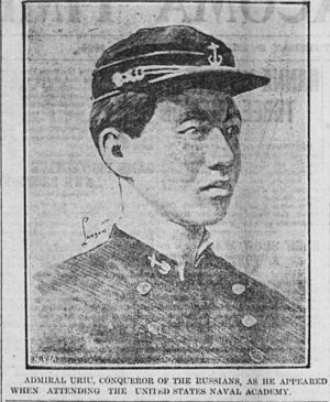 Uryū Sotokichi - Uryū, in the uniform of the United States Naval Academy.