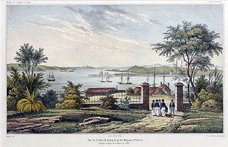Circular Quay - View east across Sydney Cove (Circular Quay) (c. 1841)