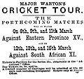 Advertisement for the First Test of 1888-9.JPG