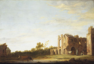 Landscape with the Ruins of Rijnsburg Abbey, near Leiden