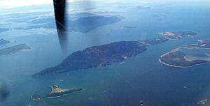 Lummi Island - Aerial view of Lummi Island.