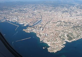 Marseille - Aerial view of Marseille.