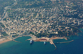 Aerial view of Rafina's harbour
