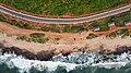 Aerial view of Rushikonda beach and road.jpg