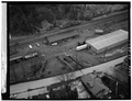 Aerial view of station - Erie Railway, Deposit Station, Front Street, Deposit, Broome County, NY HAER NY,4-DEPO,3-1.tif