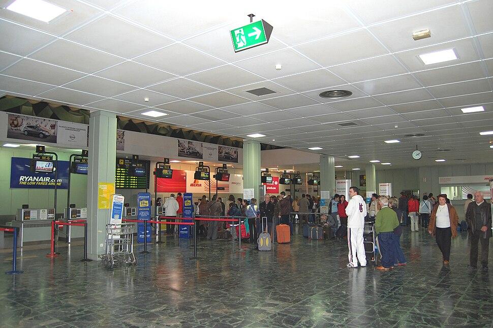 Aeroporto de Lavacolla en 2007.
