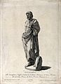 Aesculapius. Engraving by I. Wagner after Antonio Maria (Gir Wellcome V0035850.jpg