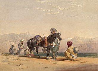 Perahan tunban - Image: Afghan cavalry during 1839 42