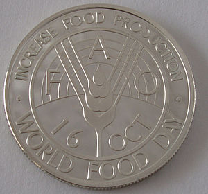 World Food Day - Afghan coin dedicated to the first World Food Day (1981)