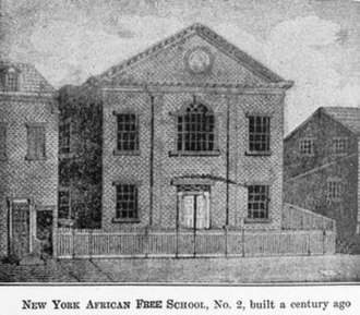 Alexander Crummell - Lithograph of African Free School which Crummell attended.