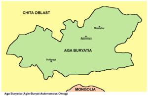 Agin-Buryat Autonomous Okrug - Image: Aga Buryatia